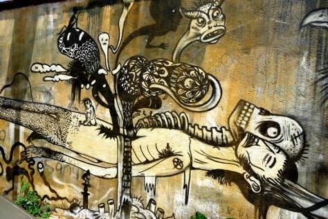 Dr Lakra street art in central Oaxaca