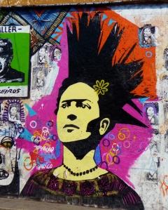 Oaxaca Mexico street art Frida Kahlo