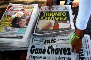 Chávez announced winner of the October 2012 election. Photo courtesy of Globovisión.
