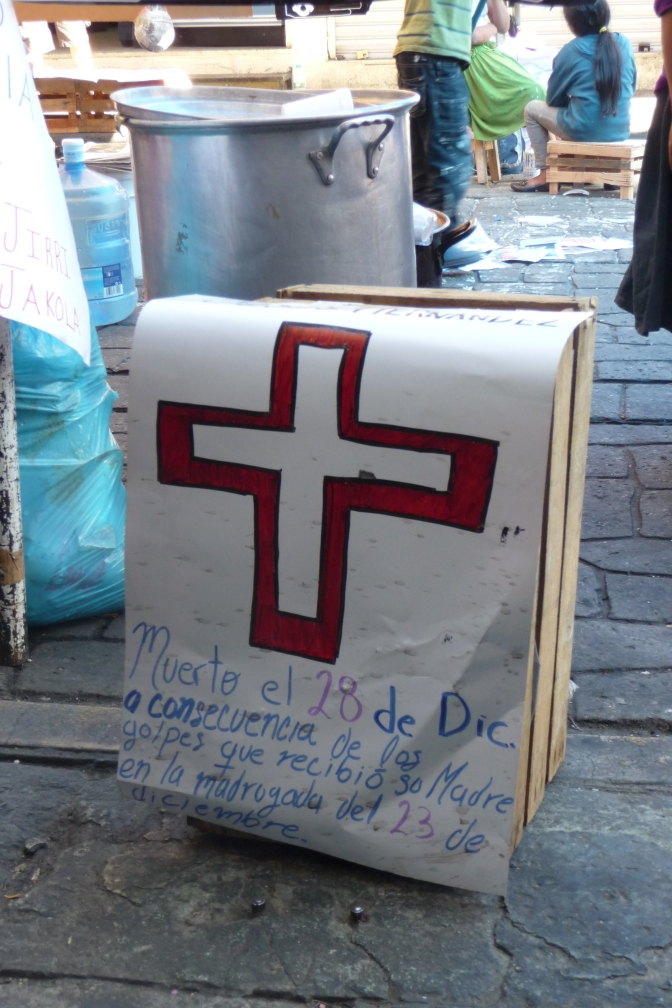 Eviction of Triqui protest camp in Oaxaca results in death of a newborn