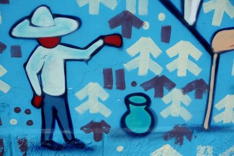 New mural in Oaxaca, Mexico