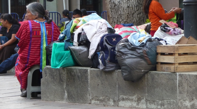 Triqui women flee community violence in Oaxaca