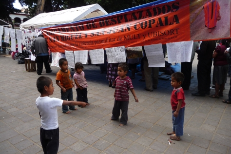 Children at the Triqui protest camp in Oaxaca, Mexico