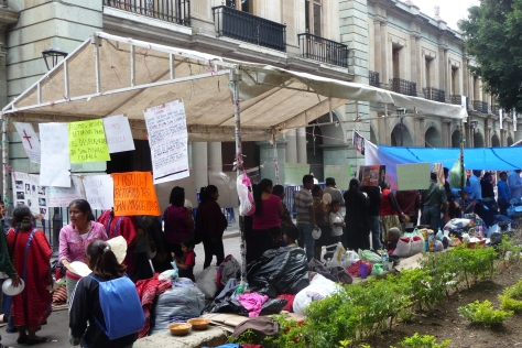 Triqui protest camp in Oaxaca City