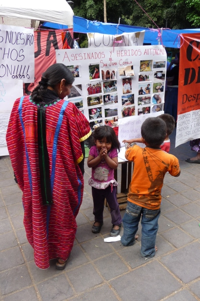 Triqui plantón in Oaxaca City, Mexico