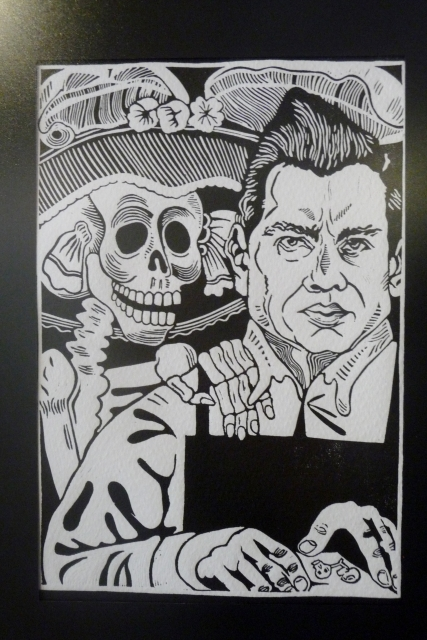 Title: The President with a Catrina. Looks suspiciously like current president Enrique Peña Nieto!