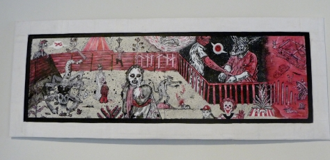 Title: Frontera (Border). Shows some of the horrors of the US-Mexico border and US culture as it encroaches on Mexico
