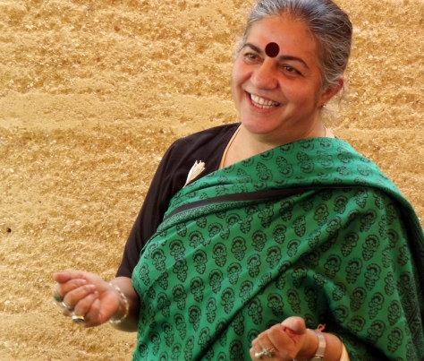 Vandana Shiva at the anti-GM corn event in Oaxaca, Mexico