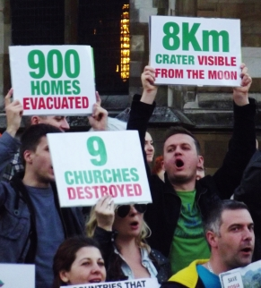 Romanian anti-mining protest in London