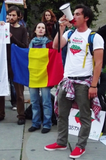 Romanian anti-mining protest in London