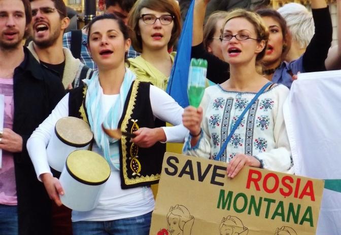 Romanians unite to say no to mining!