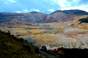 The Yanacocha mine in northern Peru is the second largest gold mine in the world and has been dogged by protest over contamination of the local environment. Photo courtesy of Golda Fuentes.