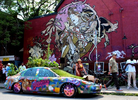 Kensington Market's famous Garden Car in Toronto, Canada. Photo by Jen Wilton