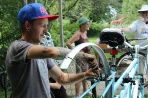 Bike repair workshop in Perth, Ontario