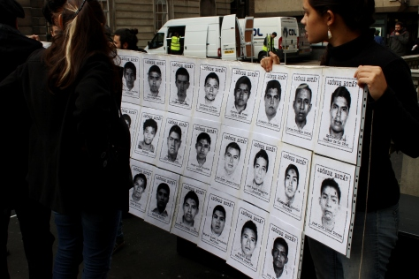 November 2014: Students in London gather to demand justice for Ayotzinapa's disappeared