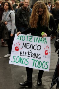 Ayotzinapa student protest in London