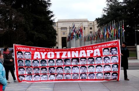 Ayotzinapa protest at UN in Geneva