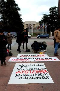 Protest outside UN HQ in Geneva